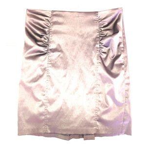 Satiny Pencil Skirt